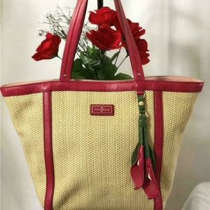 COLE HAAN STRAW TOTE